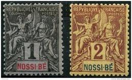 Nossi Bé (1894) N 27 à 28 * (charniere) - Nossi-Bé (1889-1901)
