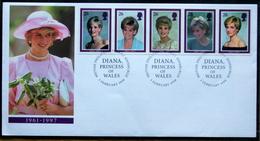 Great Britain 1998 DIANA  Minr.1729-33  FDC ( Lot 6581) - 1991-2000 Dezimalausgaben