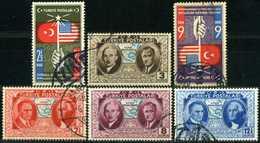 TURKEY 1939 - Mi. 1047-52 O, 150th Anniversary Of USA Independence - 1921-... Republic