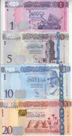 LIBYA 1 5 10 20 DINARS 2013 2015 P-76 79 81 82  NEW UNC SET */* - Libya