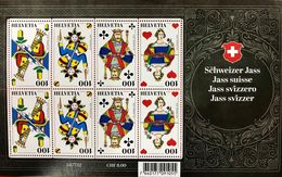 "Schweiz Suisse 2018: ""Jass / Jeu Des Cartes"" Michel 2565-2568 Im Kleinbogen En Petit Feuille ** MNH (8 X 1.00 CHF) - Jeux"