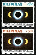 PHILIPPINES 1988 SPACE SOLAR ECLIPSE SET MNH - Philippines