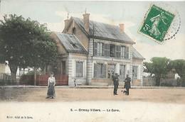 CARTE POSTALE ORIGINALE ANCIENNE : ORMOY VILLERS LA GARE ANIMEE OISE (60) - Other Municipalities