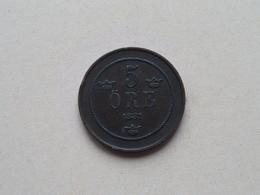 1881 - 5 Ore ( KM 736 ) Uncleaned ! - Schweden