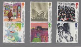 ENGELAND POSTZEGELSERIE ACADEMY OF ARTS 250 JAAR - 1952-.... (Elizabeth II)