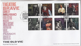 ENGELAND THEATRE BRAVE COMEDY MUSIC ECLECTIC FDC - 1952-.... (Elizabeth II)