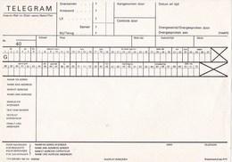 Nederland - Formulier Opgave TELEGRAM - Code T1A (220.000-I-'80)-141 - 005938F - Ongebruikt - Amministrazioni Postali