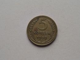 1939 - 5 Kopek ( Y# 108 ) Uncleaned ! - Russie