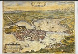 MANTOVA - PIANTA DELLA CITTA' 1575 - VIAGGIATA 1990 - Carte Geografiche