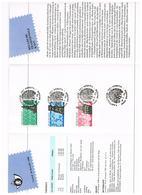 BELGIE  FILATELISTISCH VOUWBLAADJE  FDC'S  BELGISCH  KANTWERK   1989 + KRANTEKNIPSEL 1989 - Stamped Stationery