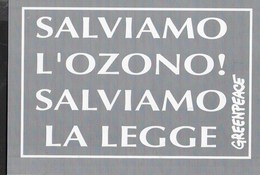 CARTOLINA-PETIZIONE  GREENPEACE PER MINISTRO ECOLOGIA  - NUOVA - Cartoline