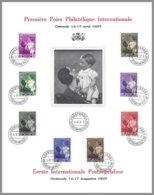 Belgique,Cob 447/54 La Reine Astrid Et Le Prince Baudouin S/ft 1ere Foire Philatélique Internationale Ostende 14-8-1937 - Expositions Philatéliques