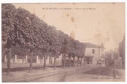 """CPA - 85 - VENDEE - SAINT MICHEL EN L'HERM """" Place De La Mairie """" - Saint Michel En L'Herm"""