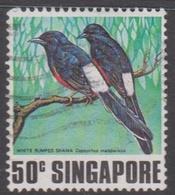 Singapore 328 1978 Singing Birds,50c White Rumped Shamal, Used - Singapore (1959-...)