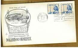 CANADA - DOLLARD DES ORMEAUX - Y 1960 FDC - Primi Giorni (FDC)
