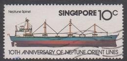 Singapore 339 1978 10th Anniversary Of Neptune Orient Line,10c Neptune Spinel, Used - Singapore (1959-...)