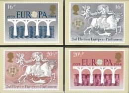 INGHILTERRA - EUROPA 1984 - SERIE COMPLETA  4 CARTOLINE  - EDIT. HOUSE OF QUESTA - NUOVE - Francobolli (rappresentazioni)