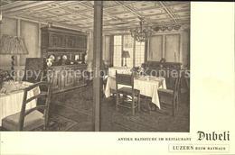 11640558 Luzern LU Restaurant Dubeli Antike Ratsstube Luzern - Switzerland