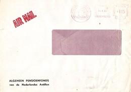 """Netherlands Antilles 1981 Willemstad Curacao Meter Francotyp """"Cc"""" 24 Pension Fund EMA Cover - Curaçao, Nederlandse Antillen, Aruba"""