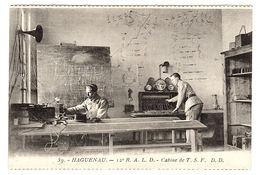 HAGUENEAU (67) - 12e R. A. L. D. - Cabine De T. S. F. - MILITARIA - Ed. Daniel Delboy, Mirecourt - Haguenau