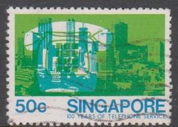 Singapore 358 1979 100 Years Of Telephone Service 50c, Used - Singapore (1959-...)