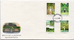 Great Britain Set On FDC - Plants