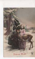 Pere Noel Habit Vert   Ange Et Faon - Santa Claus