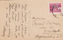 Istria Zone B 1947 Postcard Witth VUJA 5L Stamp, Sent From Opatija / Abbazia - Jugoslawische Bes.: Istrien