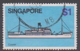 Singapore 368 1980 Ships $ 1.00 Coaster, Used - Singapore (1959-...)