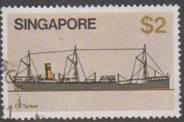 Singapore 369 1980 Ships $ 2 Oil Tanker, Used - Singapore (1959-...)