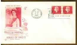 CANADA - SERIE ORDINARIA 4 C. - Y 1963 FDC - 1961-1970