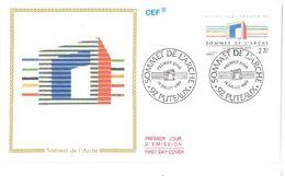 FDC Sommet De L'Arche (92 Puteaux 14/07/1989) - FDC