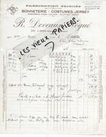 17 - Charente-maritime - PONS - Facture DEVEAUX-NOGUE - Bonneterie, Costumes Jersey - 1927 - REF 114A - France
