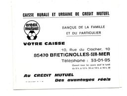 Bretignolles Sur Mer Calendrier Marées Passage Du Gois Saison  1973 - Calendriers