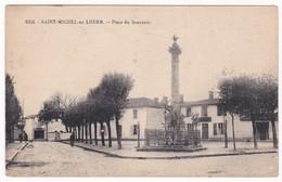 """CPA - 85 - VENDEE - SAINT MICHEL EN L'HERM """" Place Du Souvenir """" - Saint Michel En L'Herm"""