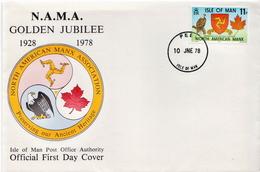 Isle Of Man Stamp On FDC - Covers