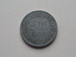1876 - 200 Reis ( KM 478 ) Uncleaned ! - Brazil