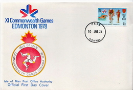 Isle Of Man Stamp On FDC - Stamps