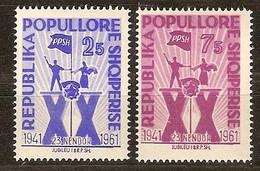 Albanie Albania 1961 Yvertn° 562-563 *** MNH Cote 4,50  Euro Parti Des Travailleurs - Albanie