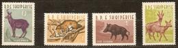 Albanie Albania 1962 Yvertn° 597-600 *** MNH Cote 35  Euro Faune Divers - Albanie
