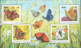 Irland MiNr. 1275-78 = Block 36 - Einheimische Schmetterlinge - Postfrisch - Schmetterlinge