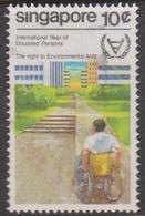 Singapore 411 1981 International Year Of Disabled 10c, Used - Singapore (1959-...)
