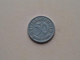 1940 F - 50 Reichspfennig ( KM 96 ) Uncleaned ! - 50 Reichspfennig