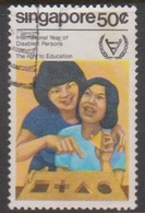 Singapore 413 1981 International Year Of Disabled 50c, Used - Singapore (1959-...)