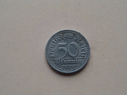 1921 F - 50 Pfennig ( KM ..) Uncleaned ! - 50 Rentenpfennig & 50 Reichspfennig