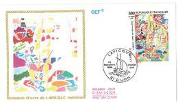 FDC Oeuvre De Lapicque Régates Vent Arrière (21 Dijon 23/09/1989) - FDC