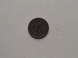 1896 E - 1 Pfennig ( KM 10 ) Uncleaned ! - [ 2] 1871-1918 : Empire Allemand