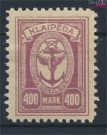 Memelgebiet 157 Avec Charnière 1923 Port Memel (9258404 (9258404 - Klaïpeda
