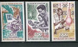 9879  CONGO  PA 87/9 **  Art Et Culture       1970  TTB - Nuovi