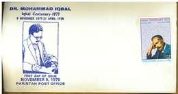 PAKISTAN - MOHAMMAD IQBAL - Y 1977 SENZA TIMBRO - Pakistan